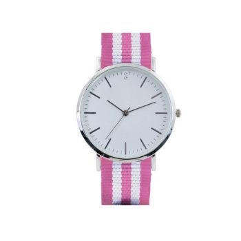 Nylon Watch - Pink+Silver